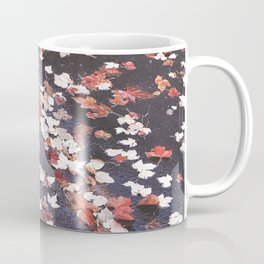 Autumn leaves, colours, bikeways in Vancouver, BC Coffee Mug