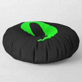 9 (LIME & BLACK NUMBERS) Floor Pillow