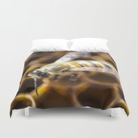 bee Duvet Covers featuring Bee by Victoria Jenkinson Photography