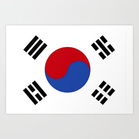 South Korean Flag  Art Print