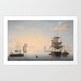 Boston Harbor by Fitz Henry Lane, 1865 Art Print