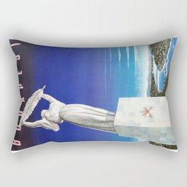 Budapest, Hungary, Gellért Hill, Liberty Statue, vintage poster Rectangular Pillow