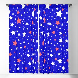 4th of July Stars Blackout Curtain
