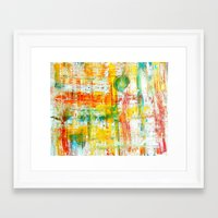 grid Framed Art Prints featuring Grid by Keith Cameron