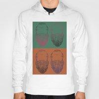 popart Hoodies featuring Socrates Beard PopArt by Britbee CokerMoen