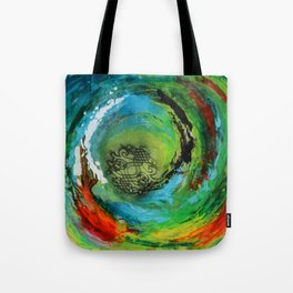 Maelstrom, captivating abstract painting Tote Bag