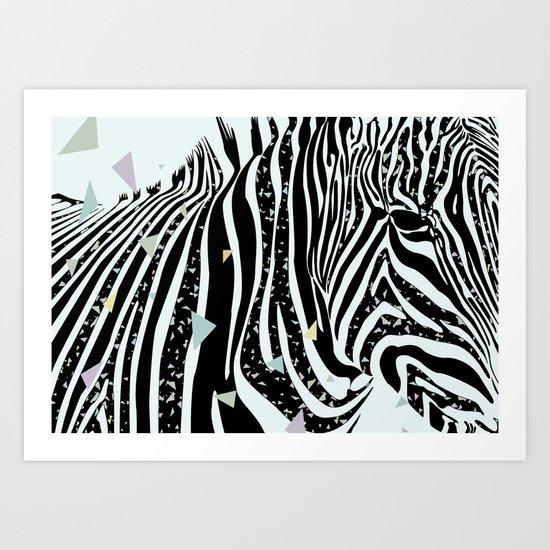 Zebra - Zèbre Art Print