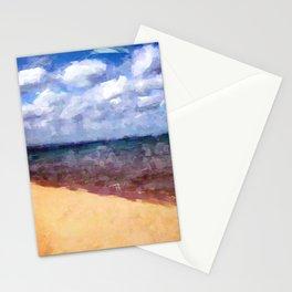 Beach Under Blue Skies Stationery Cards
