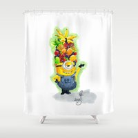 minion Shower Curtains featuring Minion by Siney