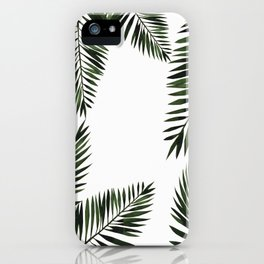 Watercolor tropical palm leaves iPhone Case