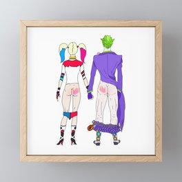 LOVE is no BUTT Joke Framed Mini Art Print