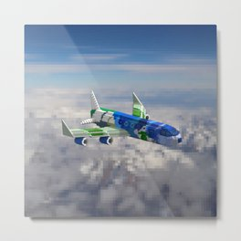 BlueBerry Airplane Metal Print