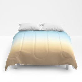 beach color gradient Comforters