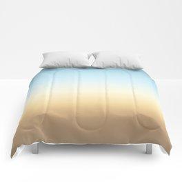 beach color gradient Comforters