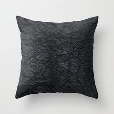 Black paper Throw Pillow