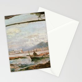 12,000pixel-500dpi - Johan Christian Dahl - View From A Grotto Near Posillipo - Digital Remastered Stationery Cards