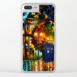 tardis  In a romantic evening Clear iPhone Case