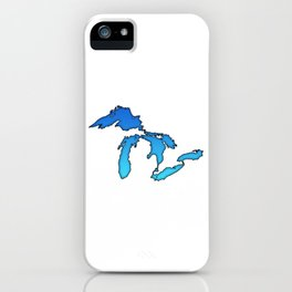 Great Lakes in Blue iPhone Case