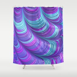 Jewel Tone Abstract Shower Curtain