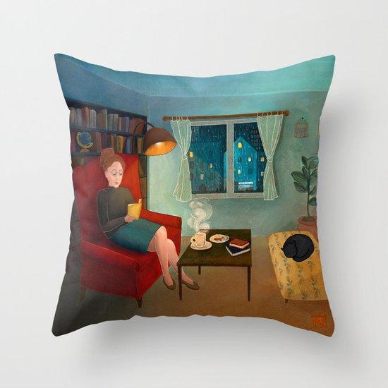 The First Rain Throw Pillow