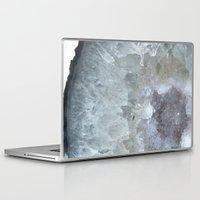 geode Laptop & iPad Skins featuring Agate Geode  by CAROL HU