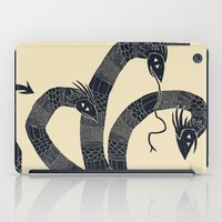 hydra iPad Cases featuring hydra(dark) by Louis Roskosch