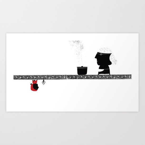 Little Red grandmother Art Print