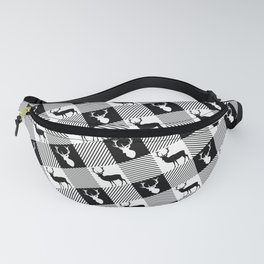 Buffalo Plaid Stag Party Fanny Pack
