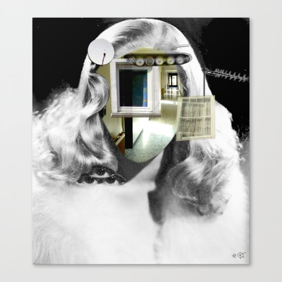 She´s got the look... Collage Canvas Print