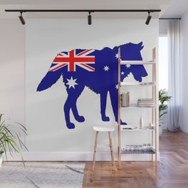 Australian Flag - Wolf Wall Mural