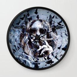 Old Bat (Artist Self Portrait) Wall Clock