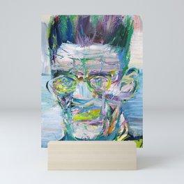 SAMUEL BECKETT watercolor and acrylic portrait Mini Art Print