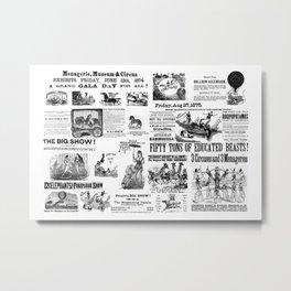 Victorian Circus Poster Metal Print