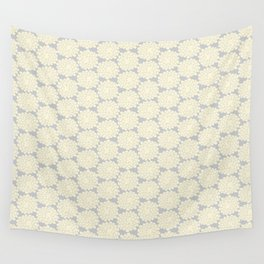 White cotton flower Wall Tapestry