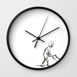 Death and the dog Wall Clock