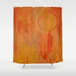 Orange Abstract Painting Shower Curtain