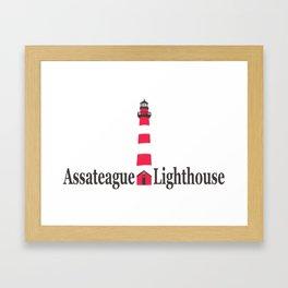 Assateague Lighthouse - Virginia. Framed Art Print