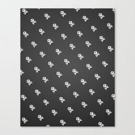 Skulls and bones Canvas Print