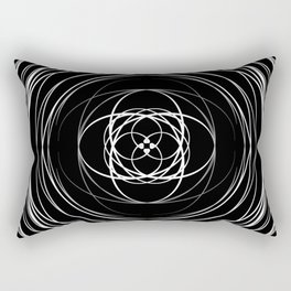 Black White Swirl Rectangular Pillow