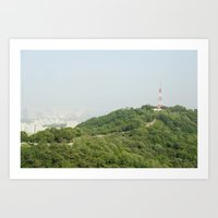 seoul Art Prints featuring Seoul by Anstey