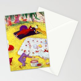 Florine Stettheimer Picnic at Bedford Hills Stationery Cards