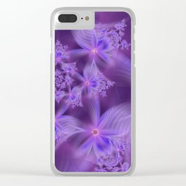 Soft Lavender Flowers Clear iPhone Case