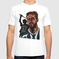 Only God Forgives White Mens Fitted Tee MEDIUM