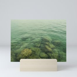 Rock, stones, pebbles photographed under the water surface Mini Art Print