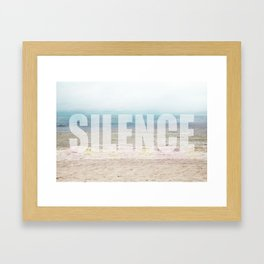 Silence please Framed Art Print