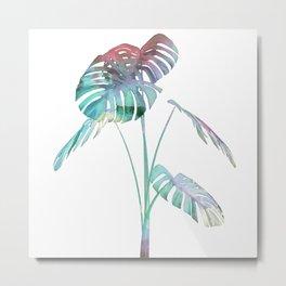 Simple Tropical Leave Metal Print