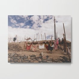 clothes-pegged  Metal Print