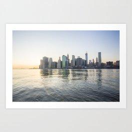New York Downtown Art Print