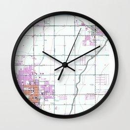 Vintage Map of Chandler & Gilbert Arizona (1952) Wall Clock