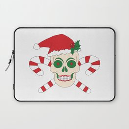 Creepy Christmas Santa Skull Laptop Sleeve